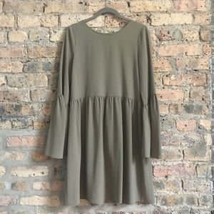 Worn 1 Time! Sage green bell-sleeve tunic